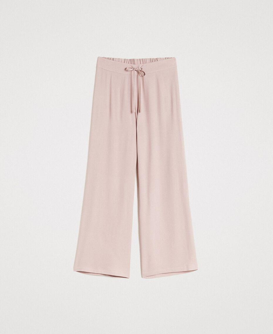 """Pantalon palazzo en crêpe Gris """"Poussière Grise"""" Femme 191LL23EE-0S"""