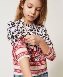 Bomber jacket cardigan with animal print Leopard Spot & Paisley Print Child 211GJ3542-04