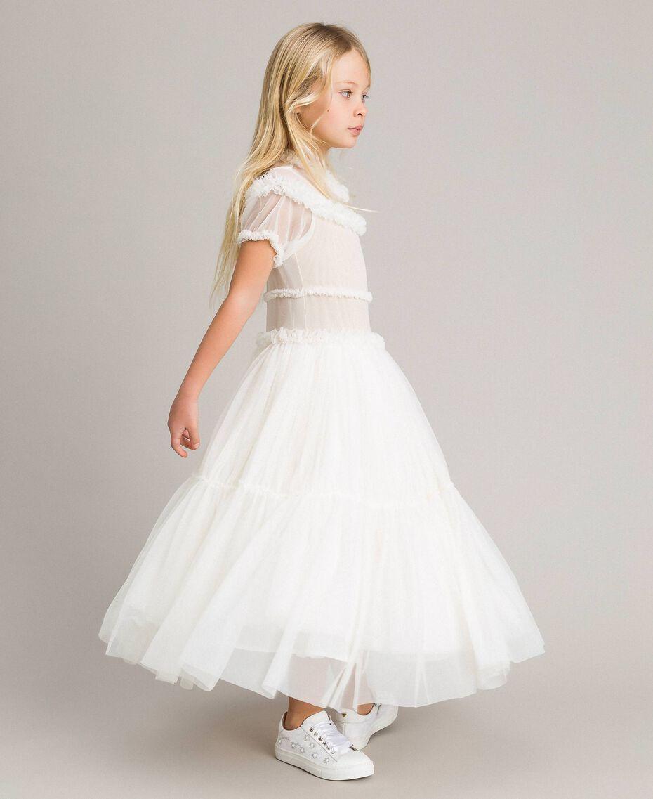 Tulle long dress Pale Cream Child 191GJ2Q20-02