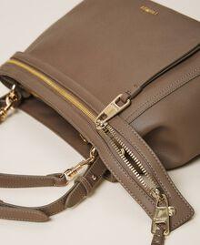 Große New Cécile Bag aus Lederimitat Taube Frau 202TB7180-03