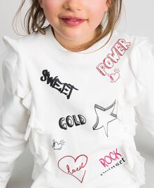 Sweatshirt with tulle frill and print White Child 192GJ2430-04