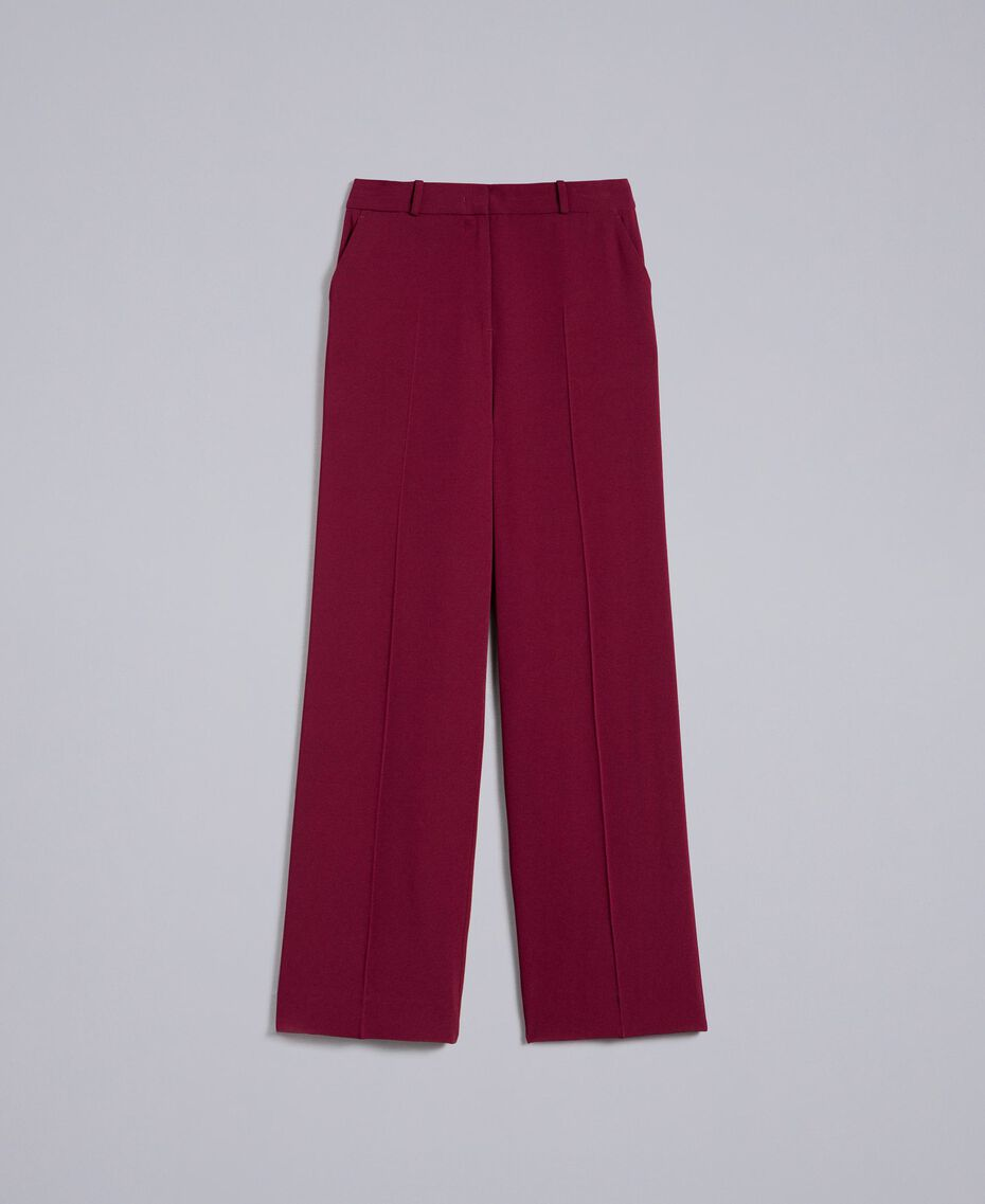 Pantalon en cady Bordeaux Femme PA822N-0S