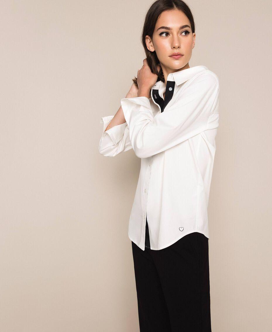 Поплиновая рубашка Blue Sky женщина 201MP2183-03