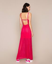 Robe longue en maille point filet Rose Sauvage Femme 201MT3010-03