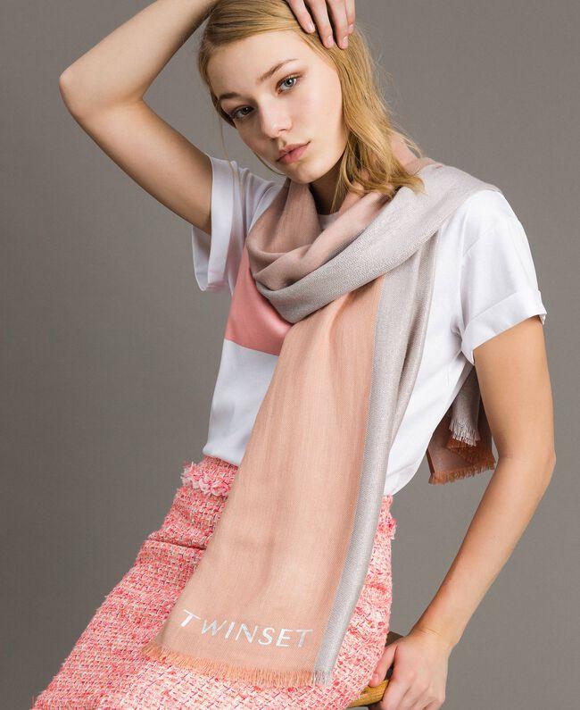 "Lurex-Jacquard-Schal ""Bellini"" Pink Frau 191TA4366-0S"