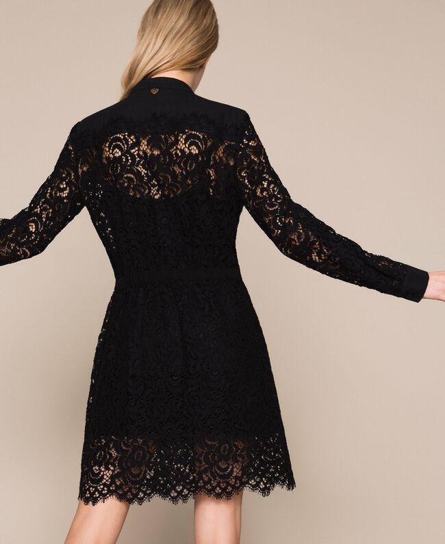 Платье из кружева макраме Черный женщина 201TP2196-03