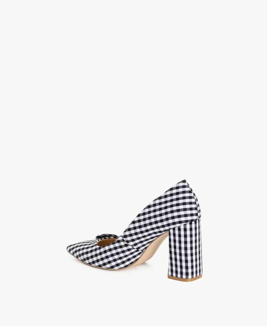 TWINSET Gingham court shoes Black Woman DS8PB3-03