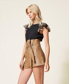 Shorts a vita alta con cintura Lampone Scuro Donna 212TP2510-02