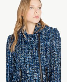 Veste perfecto bouclé Multicolore Lapis Bleu Femme JS82MC-04