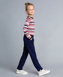 Pull jacquard en lurex Jacquard Multicolore Rayures Enfant GA83EB-03