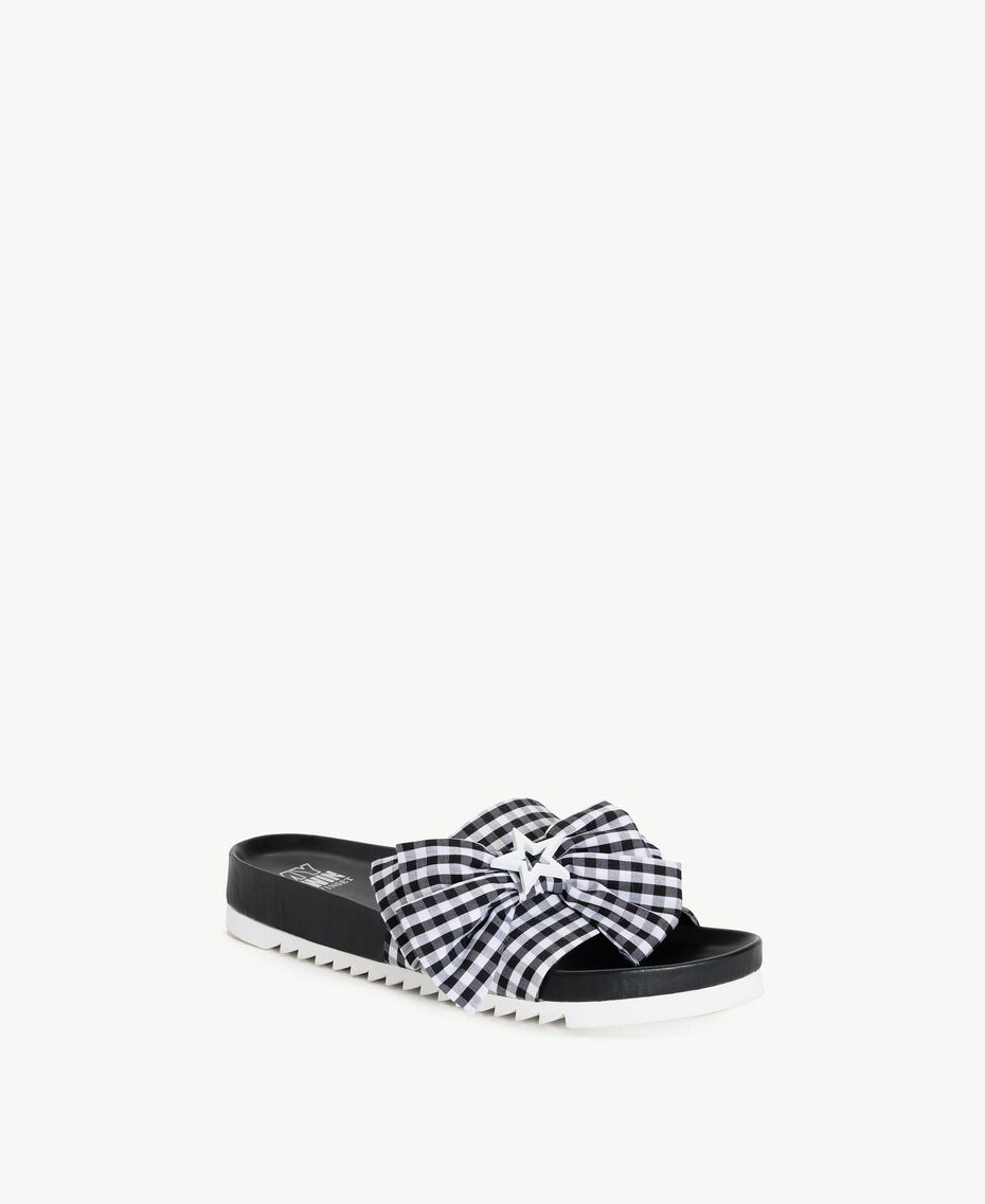 TWINSET Gingham slippers Black Woman DS8PEN-02