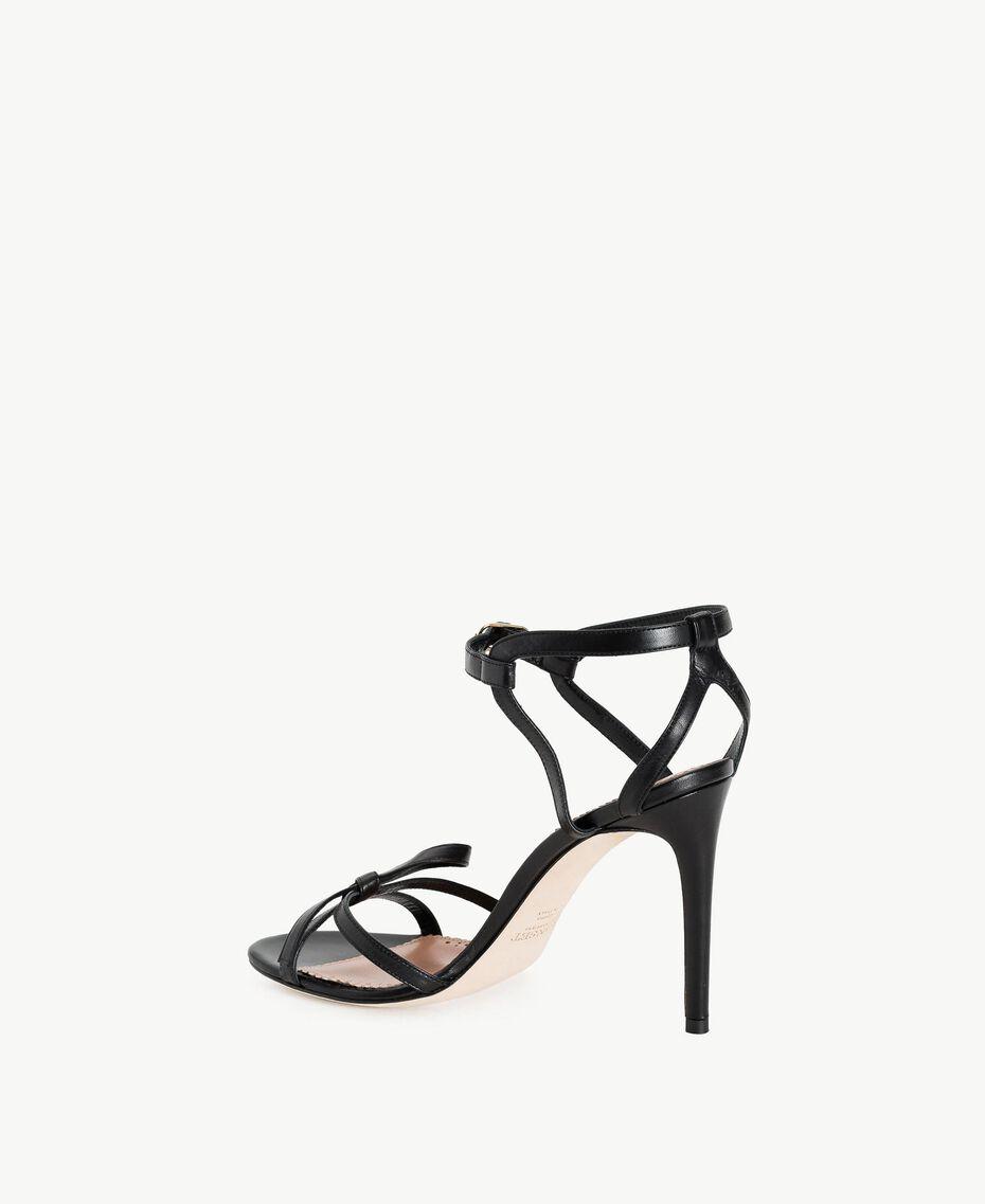 TWINSET Sandalette aus Lackleder Schwarz Frau CS8TDJ-03