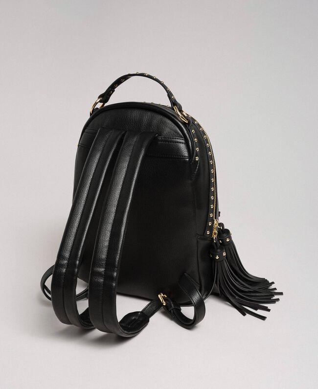 Sac à dos en similicuir avec clous Noir Femme 192TO8165-04