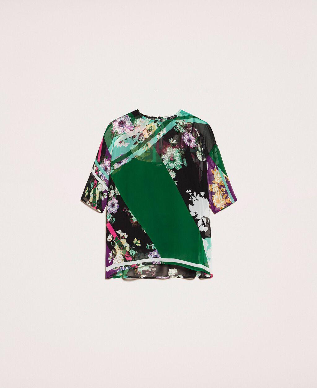 Printed georgette blouse