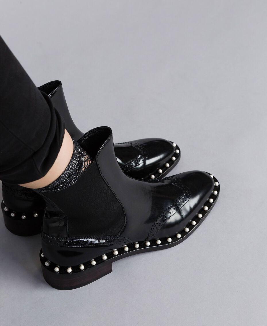 Pear leather beatles Black Woman CA8PKN-0S