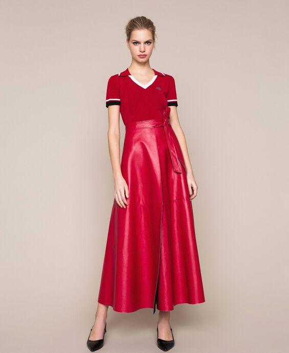 Long overlapping skirt