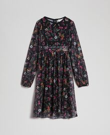 Floral print tulle dress Strawberry and Raspberry Print Child 192GJ2505-0S