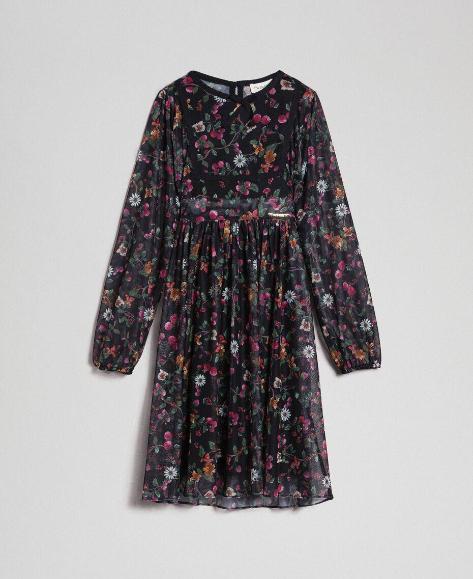 Robe en tulle avec imprimé floral Imprimé Fraises et Framboises Enfant 192GJ2505-0S