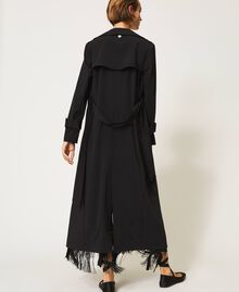 Floaty trench coat with belt Black Woman 202TP204A-04
