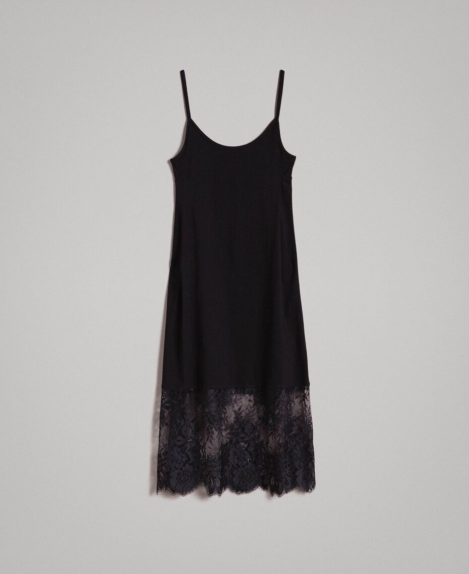 Lace slip dress Black Woman 191TP260H-0S