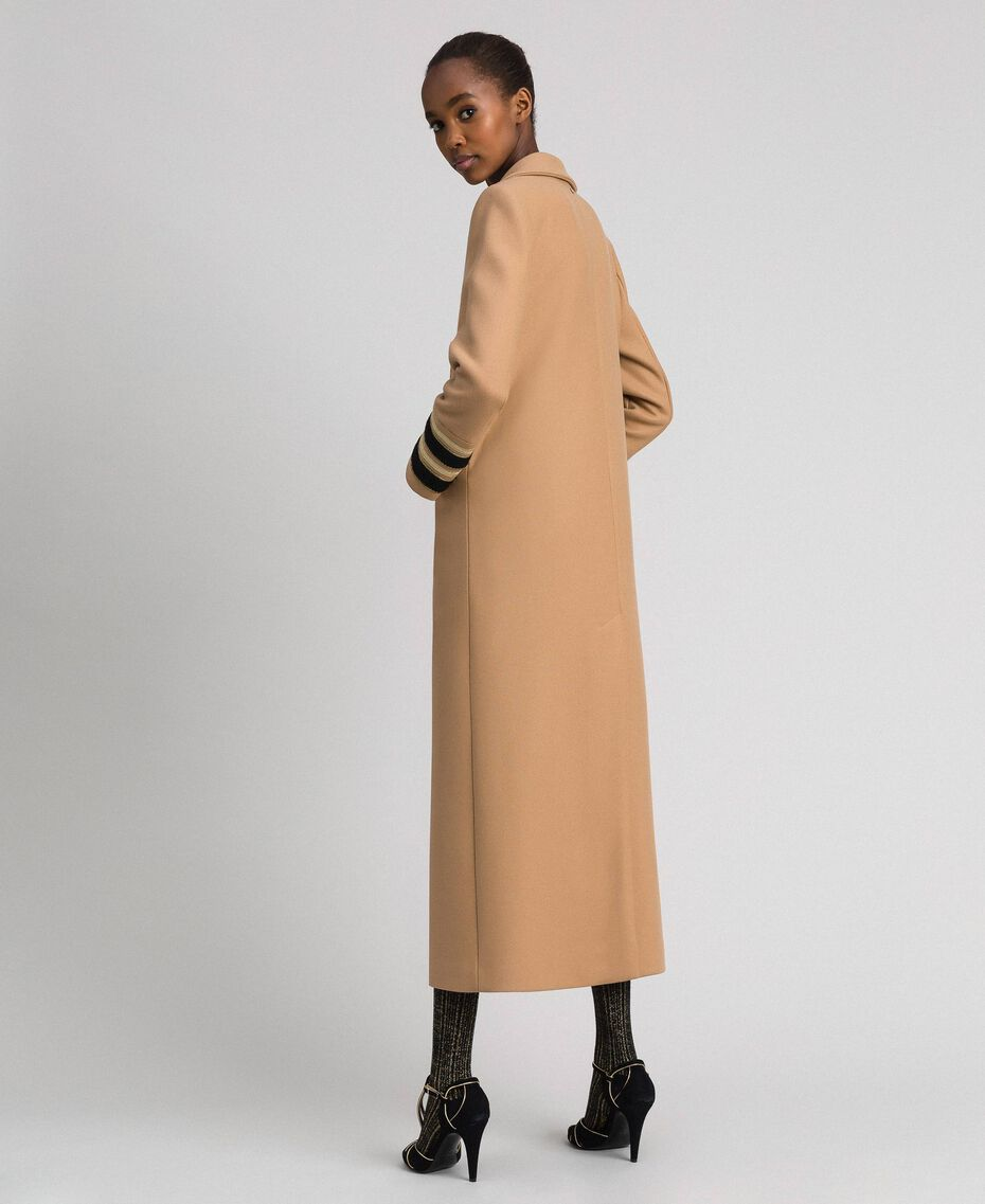 Double breasted wool cloth long coat Camel Woman 192TT2160-03