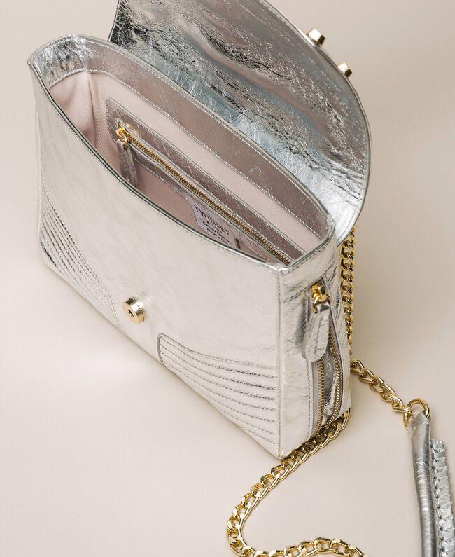 Кожаная сумка через плечо Rebel средних размеров Серый Титан женщина 999TA7233-05