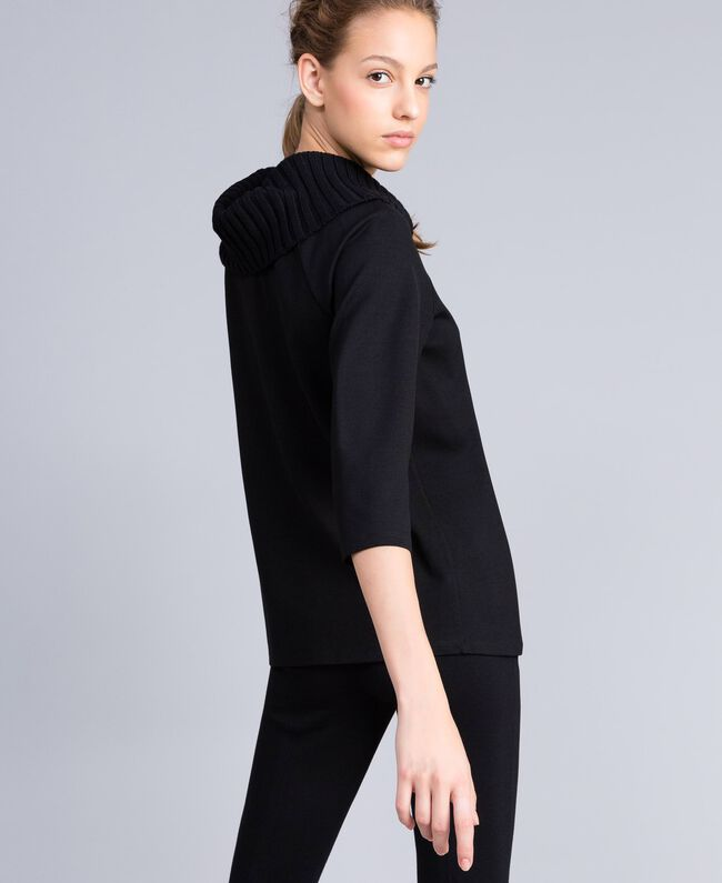 Milan stitch A-line jumper Black Woman PA8215-03