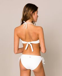 Bikini bottom with drawstring and laces Ivory Woman 201LBM199-03