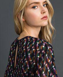 Bluse aus bedrucktem Georgette mit Unterhemd Geometrischer Fuchsprint Frau 192ST2151-05