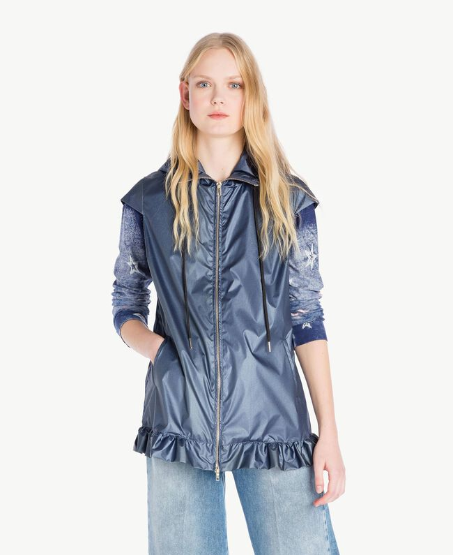 Ruffled jacket Dallas Blue Woman JS821C-01