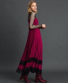 "Lace slip dress Bicolour Black / ""Snow"" White Woman 192TP2282-04"