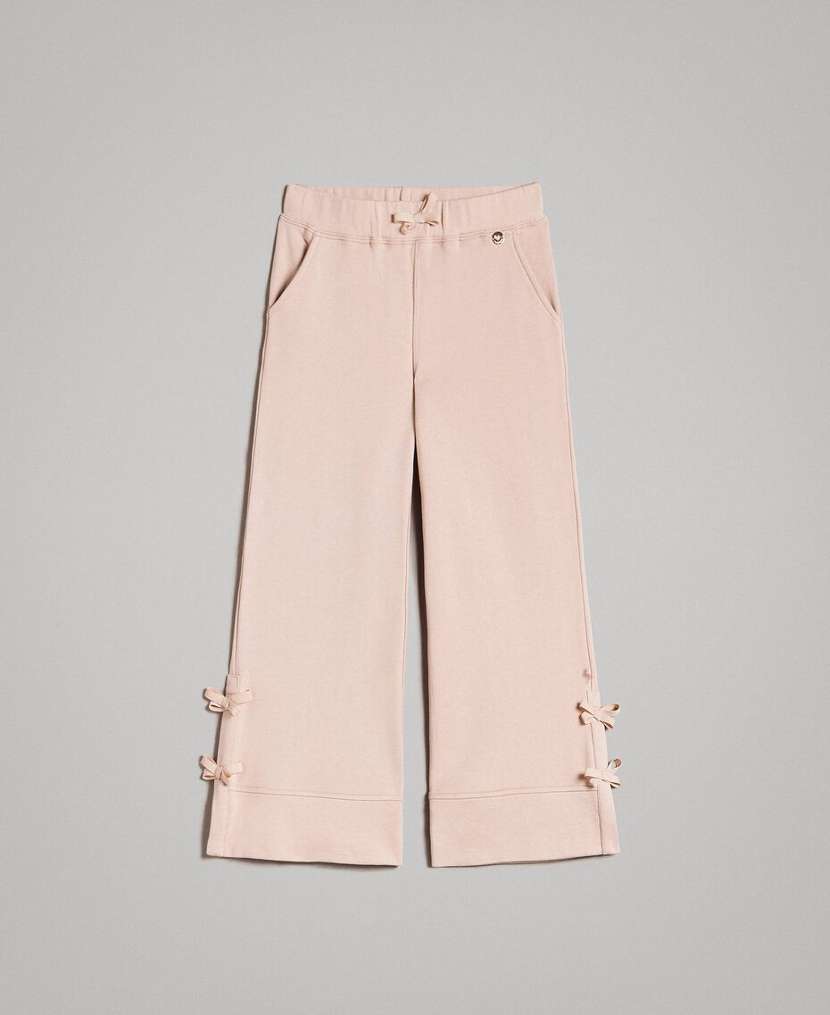 Palazzo trousers with bows Blossom Pink Child 191GJ2033-01
