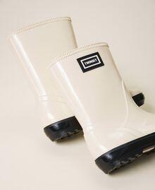 Rain boots with logo Creamy White Child 202GCJ100-01