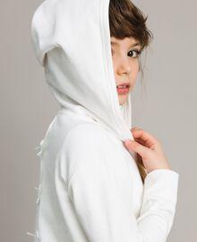 Baumwoll-Pullover mit Schleifen Mattweiß Kind 191GJ2031-0S