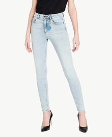 Skinny-Jeans Denimblau Frau JS82WG-01