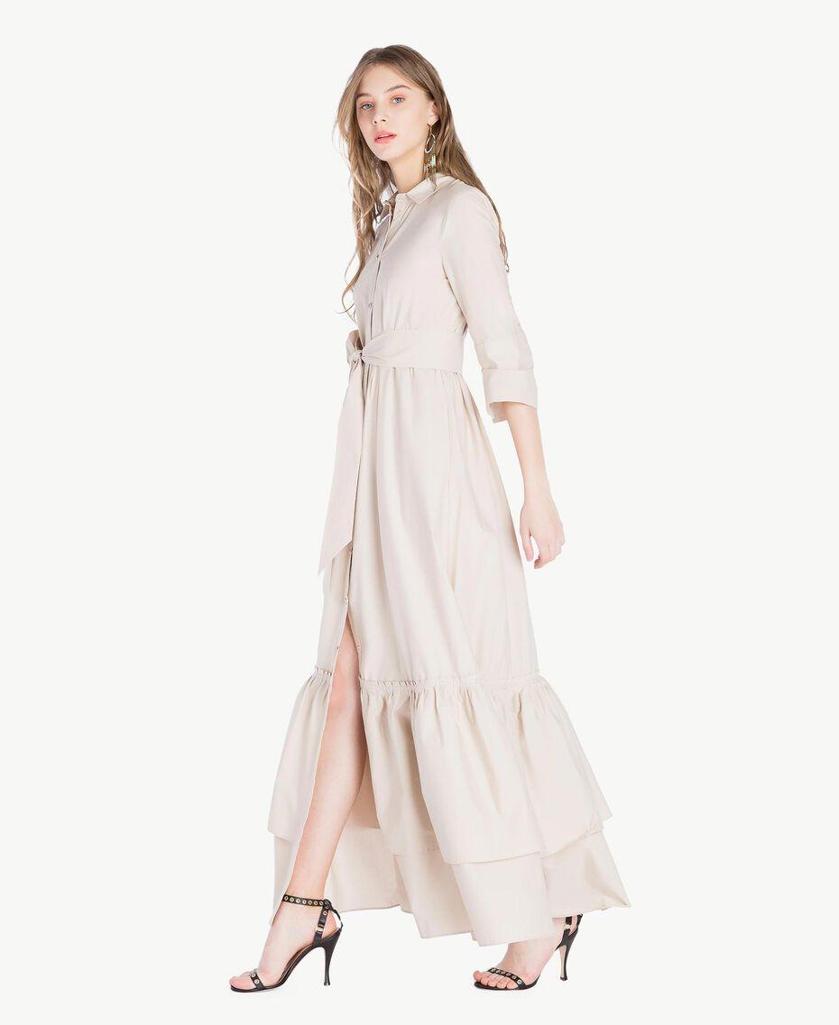 Langes Kleid aus Popeline Dune Frau TS821B-02