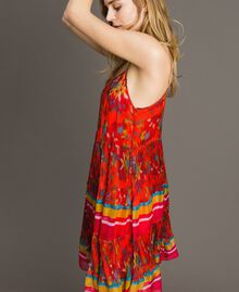 Floral print chiffon dress Multicolour Chiné / Grenadine Striping Woman 191TT2364-05