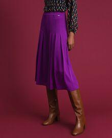 Jupe-culotte avec plis et logo Violet Femme 192ST2164-01