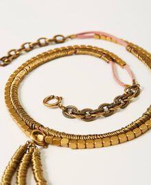 Cinturón-collar de cadena con colgante Oro «Latón envejecido Cobrizo» Mujer 211TO506E-02