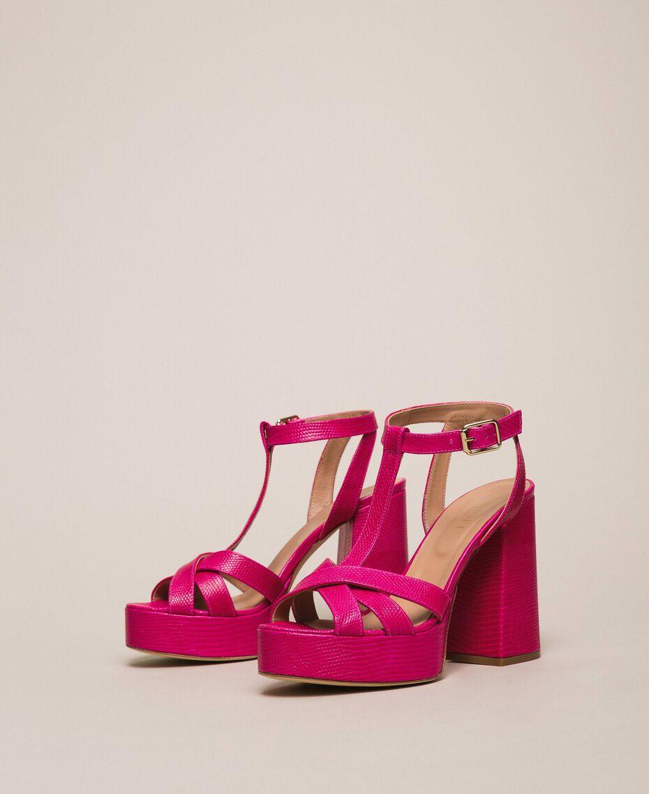 T-Bar-Sandalette aus Leder Amarena Frau 201TCP070-01