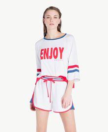 Asymmetrische Shorts Weiß Frau LS82FF-02