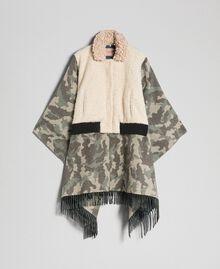 Cape en drap camouflage et bouclé Jacquard Camouflage Femme 192TT2503-0S