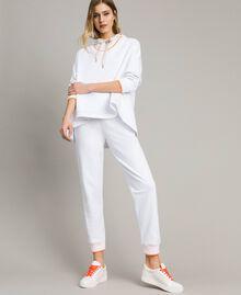 Pantalon de jogging en molleton Blanc Femme 191LL21CC-02