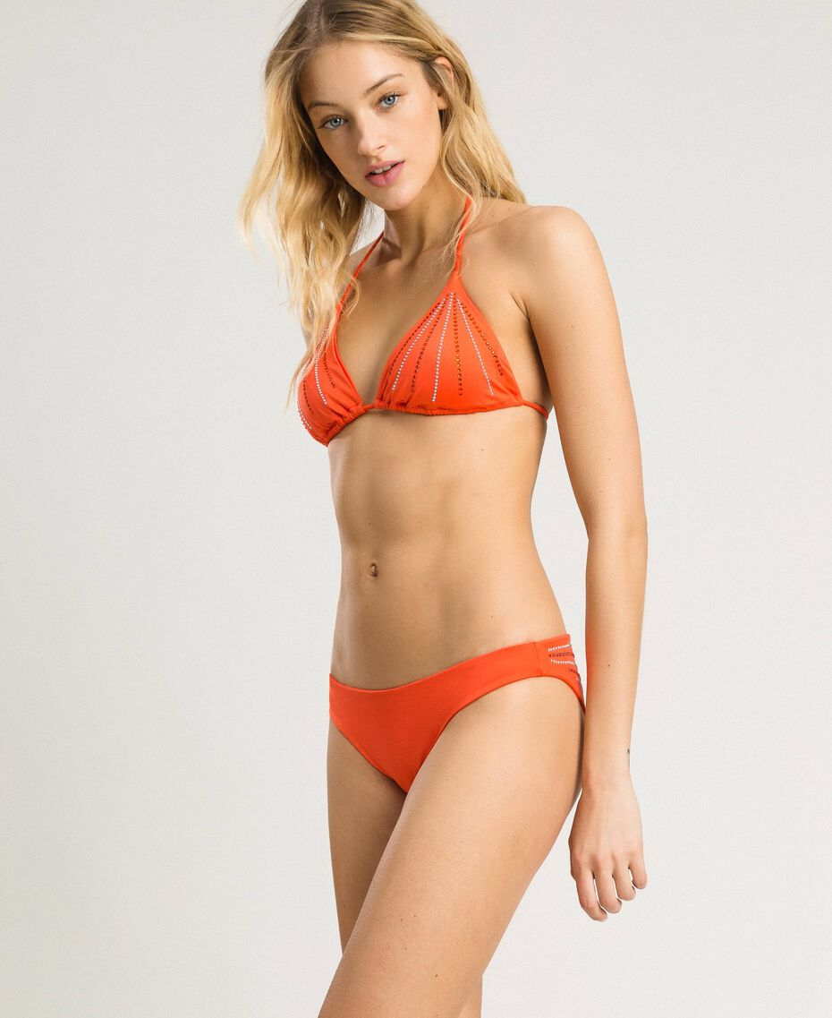 "Haut de bikini triangle avec strass ""Jus d'Orange"" Femme 191LMMG22-02"