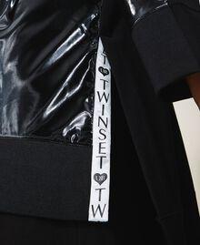 Maxi sweat avec insertions en vernis Noir Femme 202LI2JAA-06