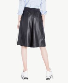 Cropped trousers Two-tone Black / Parchment White Woman JS82CE-03