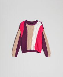 Pull en mélange de laine et alpaga Rose «Rose Brillant» Femme 192MT3074-0S