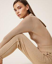 Pantalon de jogging en cachemire et laine Beige «Pastel Skin» Femme 202TT3014-03
