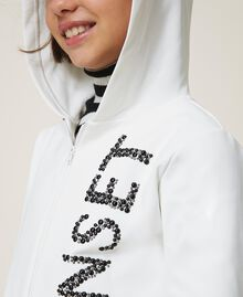 Maxi scuba sweatshirt with embroidery Off White Child 202GJ2700-04