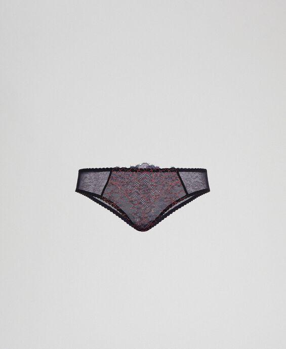 Culotte en dentelle bicolore